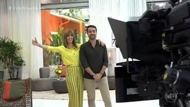 Os bastidores do primeiro dia de Ana Furtado e Ricardo Pereira à frente do 'Mais Você' - Apresentadores comandam o programa durante as férias de Ana Maria Braga