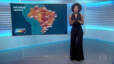 Previsão do tempo (08/01) - Muito calor e tempo seco em várias cidades do Brasil.