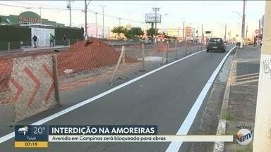 Emdec bloqueia trecho da Avenida das Amoreiras nesta terça-feira - O bloqueio começa às 8h.