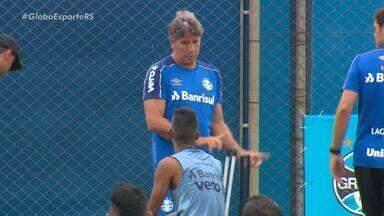Após cirurgia no coração, Renato Portaluppi acompanha treino do Grêmio - Assista ao vídeo.
