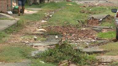 Moradores de bairro em Paço do Lumiar reclamam das condições das ruas - Chegada das chuvas e falta de drenagem prejudica a população do conjunto Novo Horizonte.