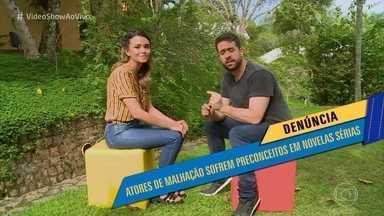 Talita Younan entra na onda e polemiza com Maurício Meirelles - Atriz confirma preconceito com a galera que veio de 'Malhação' e recebe conselhos de Maurício para evoluir na carreira