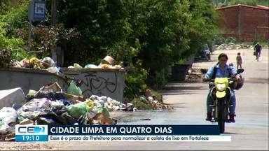 Retirada de lixo das ruas da capital deve ser concluída em 4 dias - Outras informações no g1.com.br/ce
