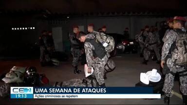 Os ataques no Ceará depois de uma semana - Outras informações no g1.com.br/ce