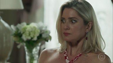 Marilda acaba falando sobre liminar para Valentina - Empresária exige explicações de Egídio