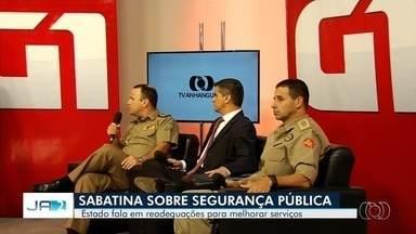 Chefes das polícias e Bombeiros falam sobre desafios da Segurança em Goiás - Durante sabatina do G1 Goiás e da TV Anhanguera, autoridades falaram sobre concursos públicos, ações para driblar as dificuldades financeiras, readequação dos efetivos e estratégias para melhorar o atendimento à população.