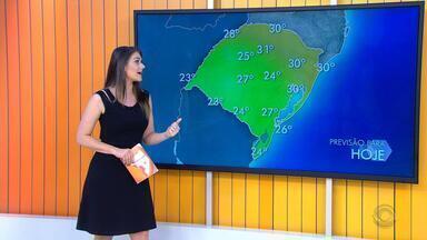 Tempo: instabilidade provoca chuva no RS e temperatura chega aos 31ºC nesta quinta (10) - Assista ao vídeo.