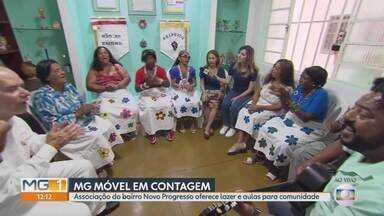 MG Móvel conhece associação de moradores do bairro Novo Progresso, em Contagem - A associação de moradores desenvolve projetos de assistência social para atender a comunidade do bairro Novo Progresso, em Contagem.