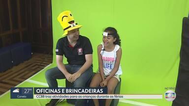 CCBB de BH traz atividades para as crianças durante as férias - Oficinas e brincadeiras fazem parte da programação; atividades são de graça.