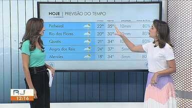 Fim de semana será de calor no Sul do Rio - Há possibilidade de chuva no fim da tarde.