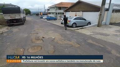 Ponta Grossa anuncia liberação de R$ 16 milhões para asfalto e manutenção de ruas - Prefeitura autorizou a abertura de licitações.