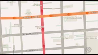 Quadro 'Radar' mostra os pontos de congestionamento na Grande Belém - Veja os locais de engarrafamento no fim da manhã