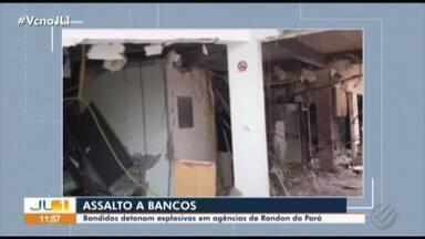 Homens assaltam agências bancárias de Rondon do Pará - Vários explosivos foram detonados durante o assalto