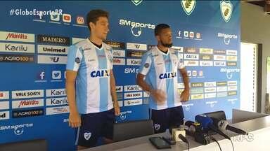 Londrina apresenta mais dois reforços para a temporada - Tubarão se prepara para estreia no Campeonato Paranaense
