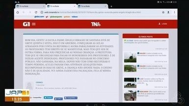 Tô na Rede: escola municipal Ângelo Biragui do município de Santana tem aulas suspensas - Internauta registrou pelo aplicativo da Rede Amazônica.