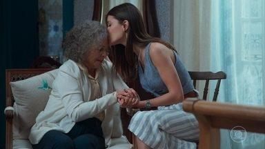 Margot conversa com Cris sobre o sonho de reencontrar seu filho - Ela conta ainda sobre o sonho que teve com Vicente e diz entender que ele a estava preparando