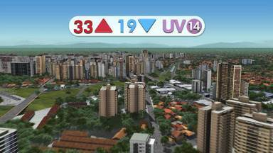 Sábado vai ser de temperaturas altas na região - Confira na previsão do tempo.