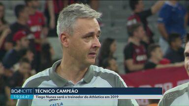 Athletico confirma Tiago Nunes como novo técnico para a temporada de 2019 - O time anunciou o novo técnico nas redes sociais.