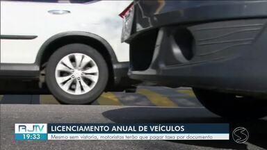 Detran divulga esquema para licenciamento anual de veículos - Vistoria acabou, mas a cobrança de taxas continua.