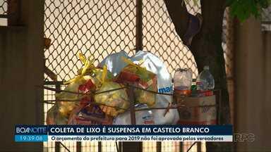 Coleta de lixo domiciliar é suspensa em Presidente Castelo Branco - A interrupção aconteceu porque o orçamento de 2019 do município não foi aprovado pela Câmara de Vereadores