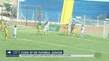 Comercial é goleado pelo Mirassol e foi desclassificado da Copinha - Time de Ribeirão Preto (SP) levou cinco gols do Mirassol e está fora da Copa SP de Futebol Júnior.