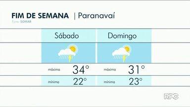 Fim de semana será de calor e chuva isolada no Noroeste - No domingo, 13, as temperaturas caem um pouquinho em relação ao sábado, 12.
