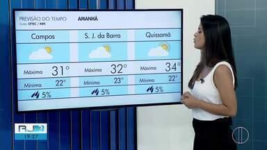 Confira a previsão do tempo para este sábado (12) no interior do Rio - Assista a seguir.
