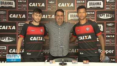 Vitória apresenta dois novos reforços - Os jogadores chegam para somar no elenco do time.