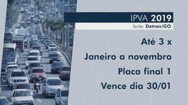 IPVA 2019 deve ficar 3,2% mais barato em Goiás - De acordo com a Secretaria da Fazenda, redução ocorre por conta da desvalorização do carro usado na tabela Fipe. Mais de 3 milhões de veículos são tributados no estado.