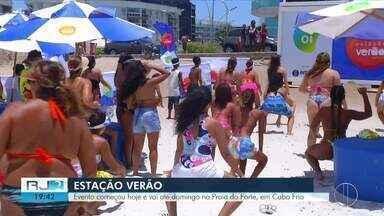 Estação Verão Inter TV 2019 leva atividades às areias da Praia do Forte, em Cabo Frio - Assista a seguir.