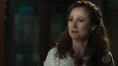 Milu ouve parte da conversa entre Eurico e Valentina - Ela revela que Gabriel aceitou seu cargo e a mansão será dele