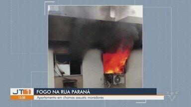 Incêndio destrói apartamento na Vila Belmiro, em Santos; não há feridos - Sete viaturas do Corpo de Bombeiros foram deslocadas até o local.