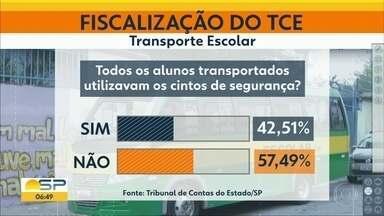 Perigo no transporte escolar em várias cidades de SP - Fiscalização do TCE encontra veículos deteriorados