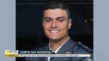 PM que surtou e deu tiros dentro de hospital é preso em Vitória após alta médica - Marcelo Pain Maciel Filho teria dito para a médica que havia usado drogas e que estava arrependido. Ninguém ficou ferido na ocasião. O caso aconteceu no dia 2 de janeiro.