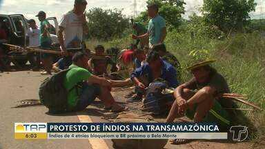 Indígenas protestam para que demarcação de terras volte a ser atribuição da Funai - Um grupo de 80 indígenas bloqueou a rodovia BR-230, a Transamazônica, no sudeste do Pará.