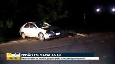 Grupo é preso suspeito de assaltar na Região Metropolitana - Trio é preso e adolescente apreendido durante perseguição policial.