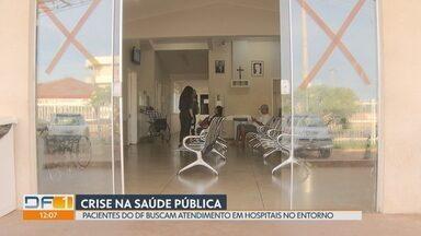 Sem atendimento, pacientes do DF buscam socorro em hospitais do Entorno - Na UPA do Novo Gama, em Goiás, 70% dos pacientes são do DF. Enquanto isso, no Hospital do Gama, pacientes não conseguem atendimento e ficam dias nos corredores à espera de cirurgia.
