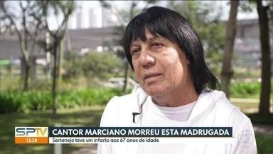 Corpo do cantor Marciano é velado em São Caetano - Ele morreu na madrugada desta sexta-feira (18) depois de um infarto fulminante,