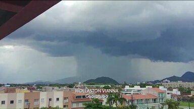 Choveu forte na região de Curitiba - Colombo foi mais uma vez atingida pelos fortes temporais.