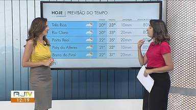 Sexta-feira será de sol e calor no Sul do Rio - Há possibilidade de chuva no fim da tarde e início da noite.