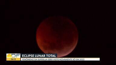 Como foi o eclipse lunar total - Fenômeno da Superlua foi registrado de madrugada e pôde ser visto em toda a América. Lua ficou com tonalidade vermelha e por isso também foi chamada de Lua de Sangue. O próximo eclipse lunar total vai acontecer em 2022.