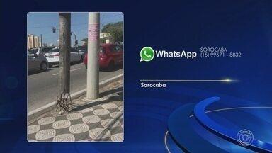Confira as reclamações que os telespectadores enviaram pelo WhatsApp - Confira as reclamações que os telespectadores do TEM Notícias enviaram pelo WhatsApp.
