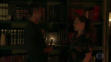 Judith e Gabriel preparam o teste de confiança de Eurico - Sampaio entra no túnel secreto que leva até a fonte