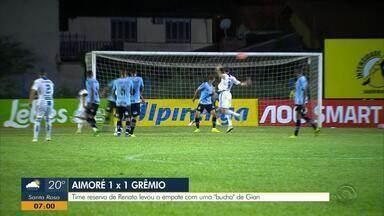 Com time reserva, Grêmio fica no empate com o Aimoré - Partida teve 'bucha' do Gian.