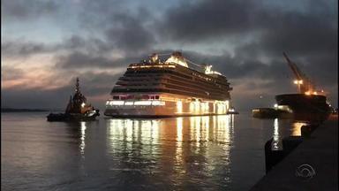 Porto de Rio Grande recebe transatlântico de luxo - Assista ao vídeo.