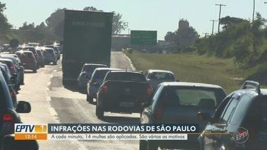 Rodovias de São Paulo registram 14 multas por minuto - Confira os flagrantes de infrações nas rodovias espalhadas pelo estado.
