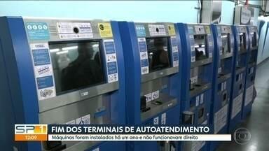 Metrô cancela contrato com empresa que fornecia totens de autoatendimento - Justificativa é que os terminais não funcionavam direito. Contrato tem o valor de 24 milhões de reais.
