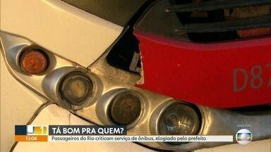 Prefeitura anuncia aumento de 10 centavos na passagem de ônibus - Passageiros criticam o serviço que Crivella considera bom
