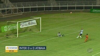 Inter de Limeira empata e segue sem vencer no Limeirão - Jogo contra o Atibaia ficou no 0 X 0.