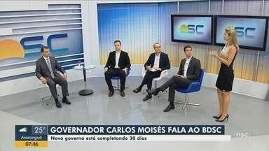 Governador Carlos Moisés fala sobre as projeções para a área de segurança e infraestrutura - Governador Carlos Moisés fala sobre as projeções para a área de segurança e infraestrutura